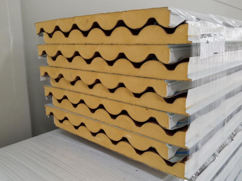 Venta panel sandwich imitación teja, panel sandwich teja